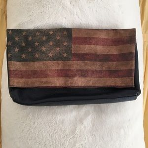 Leather Foldover Clutch 🇺🇸 American Flag